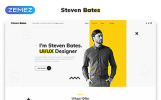 "HTML шаблон ""Steven Bates - Personal Page Multipage Modern HTML"""