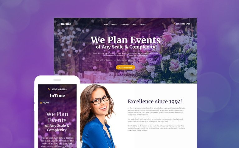 InTime - Events Management Company WordPress Theme New Screenshots BIG