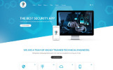 "Joomla Vorlage namens ""Shield - The Best Security App"""