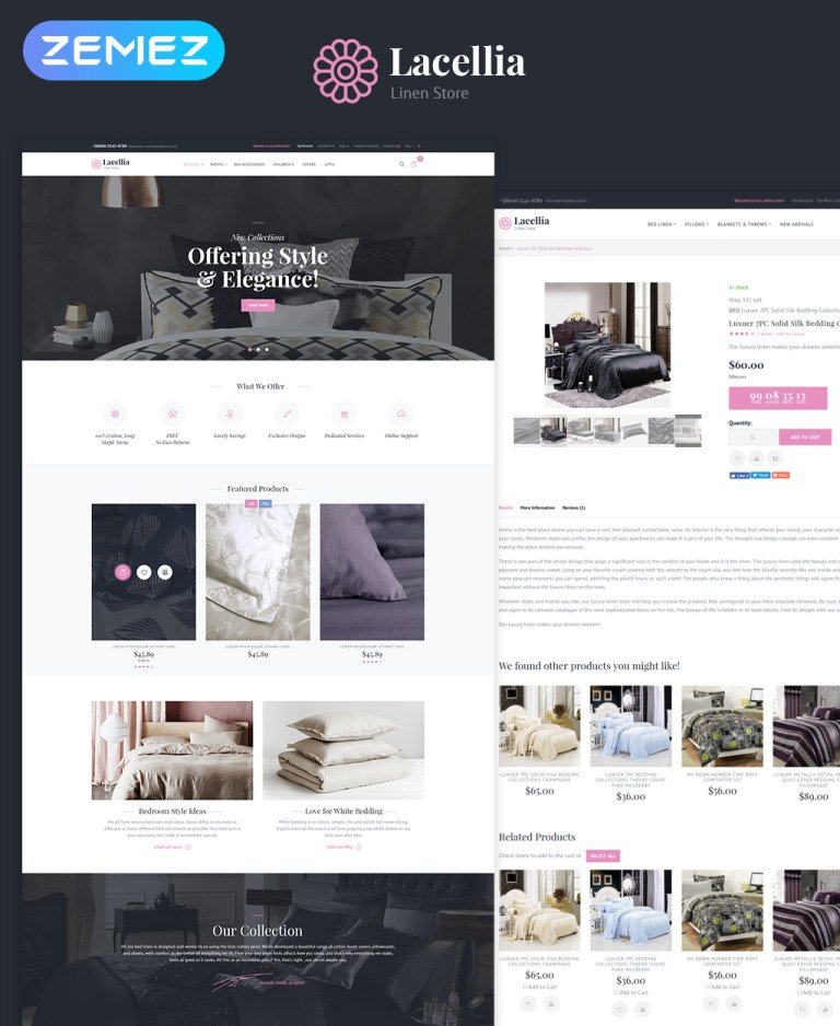 Lacellia - Linen Store Magento Theme New Screenshots BIG
