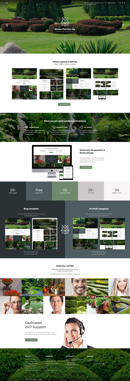 """Landscape Architects"" Responsive Website template №62143"