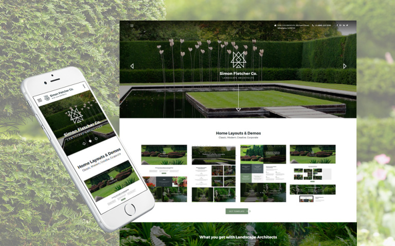Landscape Architects Website Template New Screenshots BIG