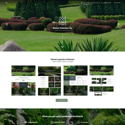 responsive landscape design website templates