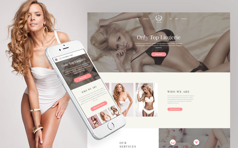 LS - Fashion Lingerie Shop Responsive Multipage Website Template New Screenshots BIG