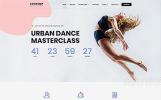 """Modello Siti Web Responsive #62183 """"Contemp - Dance School Multipage Creative Bootstrap HTML"""""""