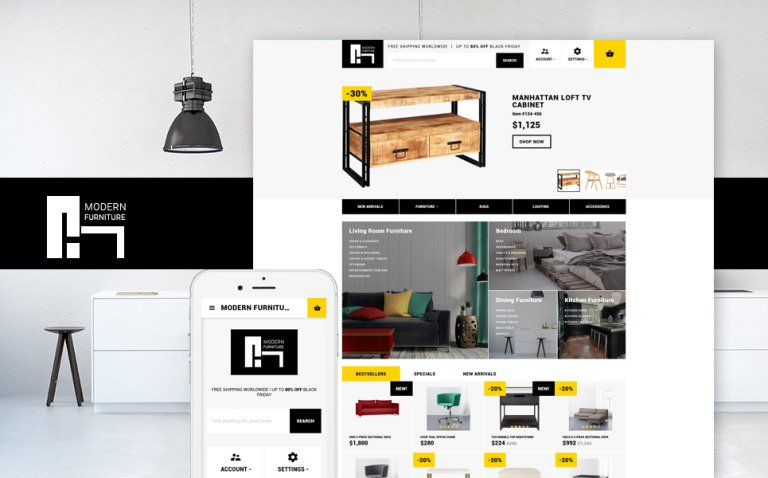 Modern Furniture - Interior & Home Decor Responsive OpenCart Template New Screenshots BIG