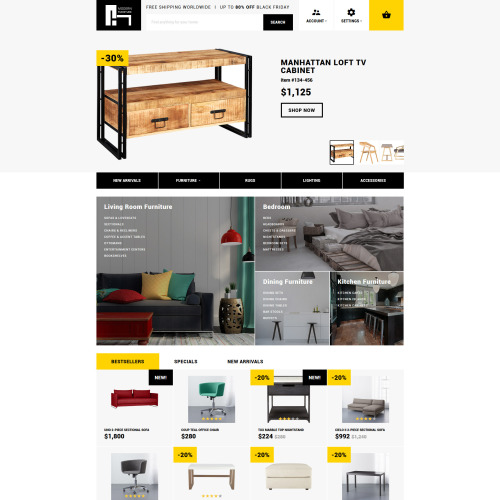 Modern Furniture - Responsive OpenCart Template