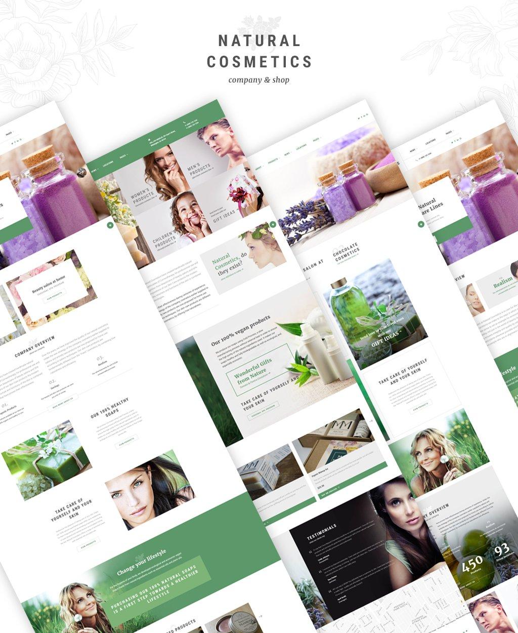 Natural Cosmetics - Cosmetics Store Multipage Website Template - screenshot