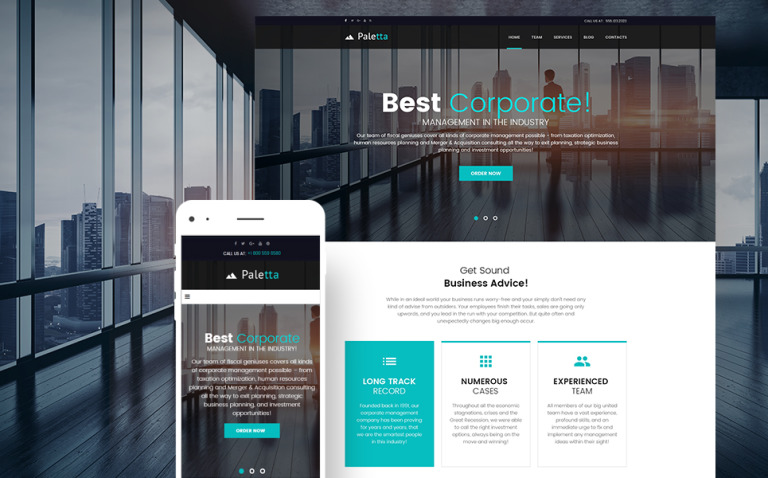 Paletta - Corporate & Business WordPress Theme New Screenshots BIG