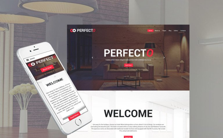 Perfecto - Luxury Hotel Responsive Joomla Template New Screenshots BIG