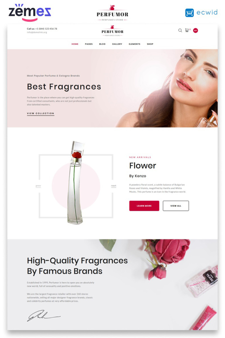 Perfumes Shop - Cosmetics Store Multipage Website Template New Screenshots BIG