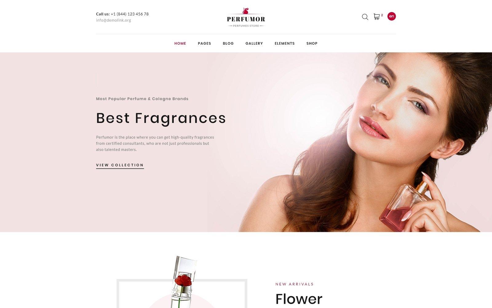 Perfumor - Cosmetics Store Multipage Creative HTML Template Web №62128