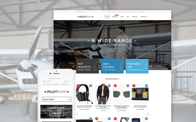 PilotShop - Pilot Supplies Responsive Shopify Theme New Screenshots BIG