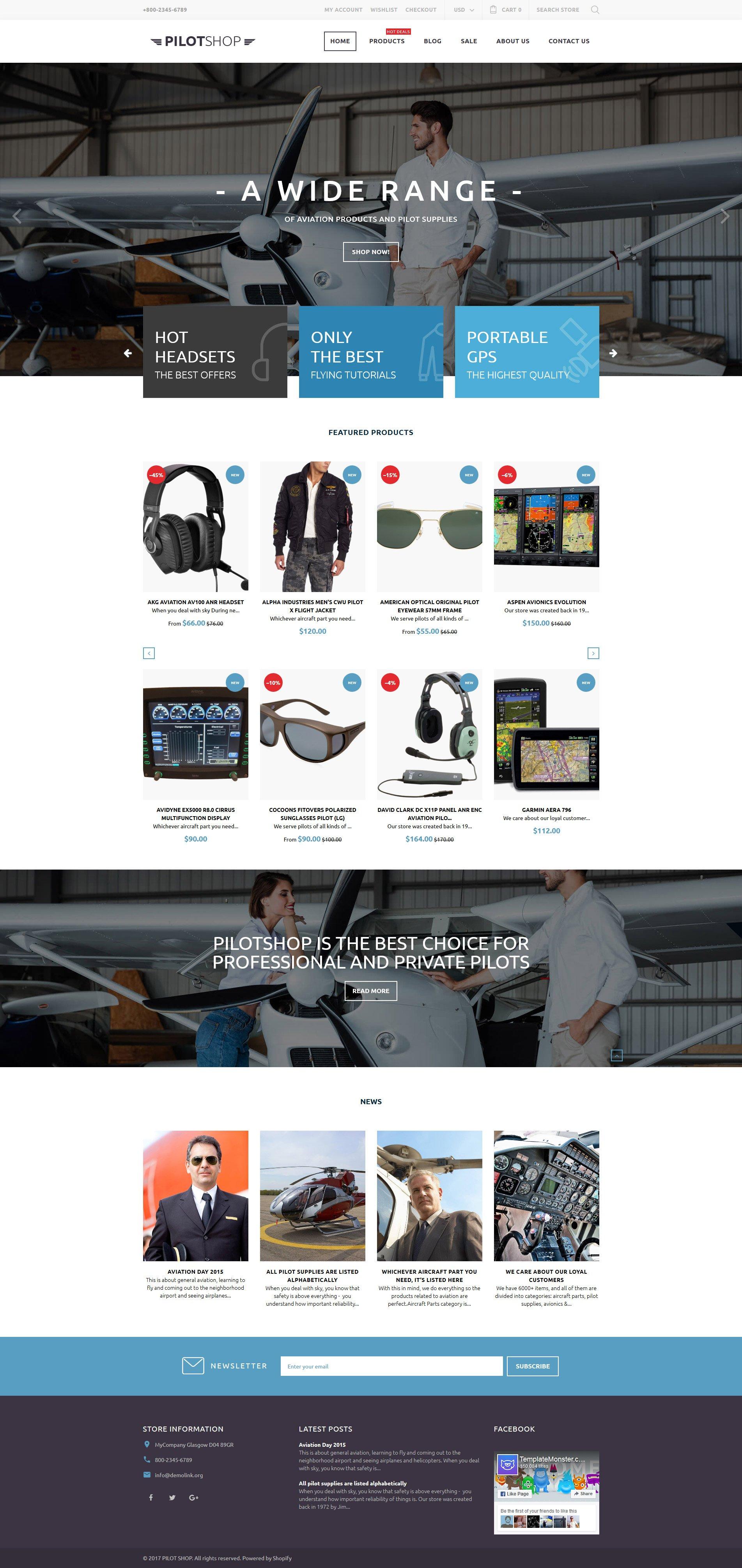 PilotShop - Pilot Supplies Responsive Shopify Theme
