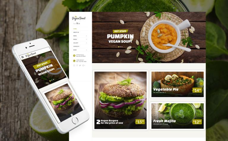 Plantilla Web #62171 para Sitio de Restaurantes vegetarianos