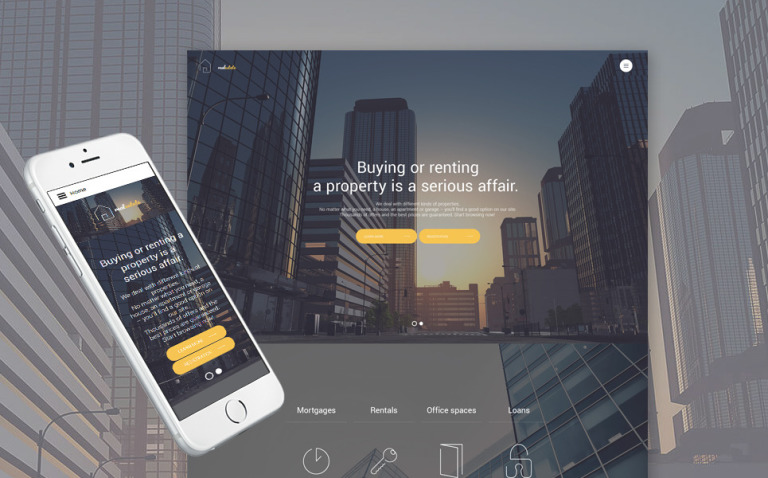 Real Estate Responsive Joomla Template Big Screenshot