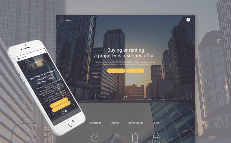 Real Estate Responsive Joomla Template Big Screenshot