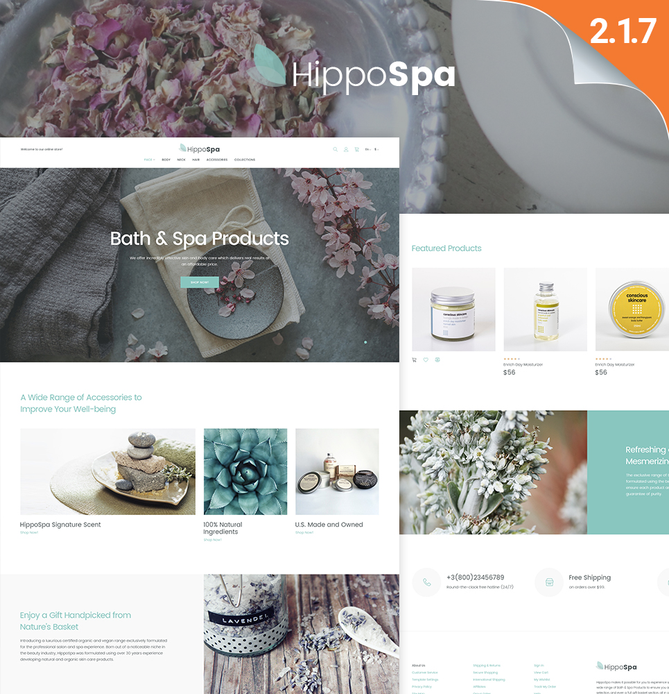 Responsive HippoSpa - SPA Store Magento #62104