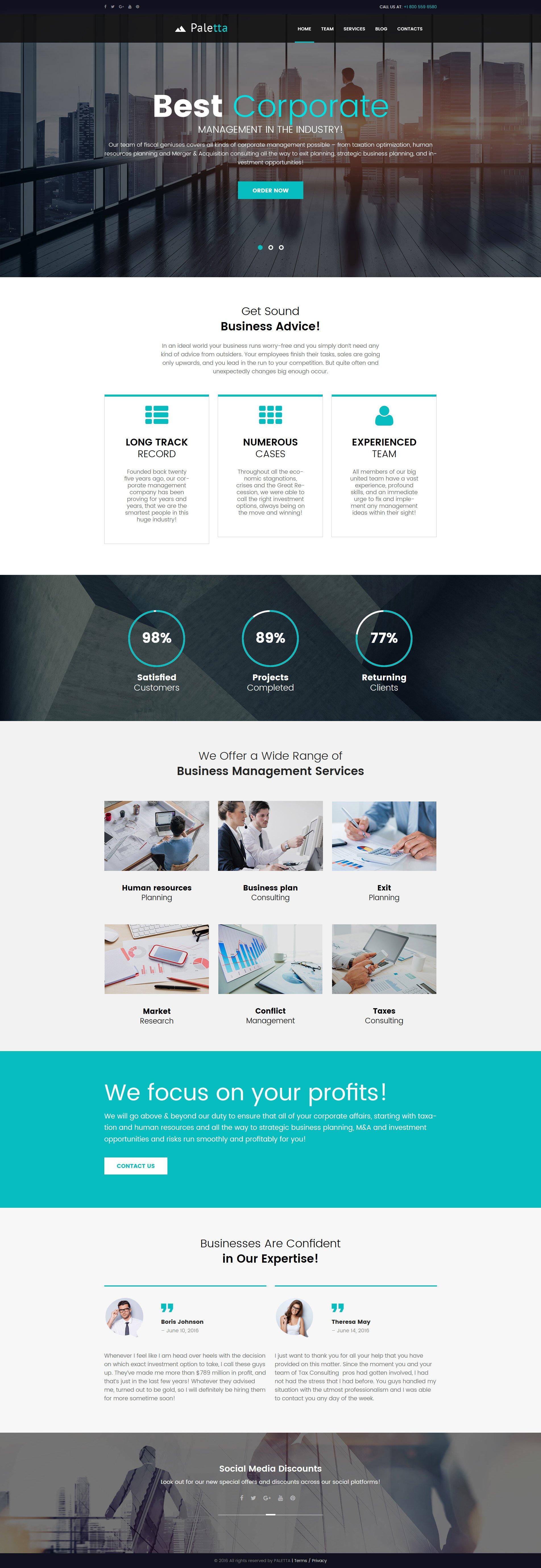 Responsive Paletta - Corporate & Business Wordpress #62119 - Ekran resmi
