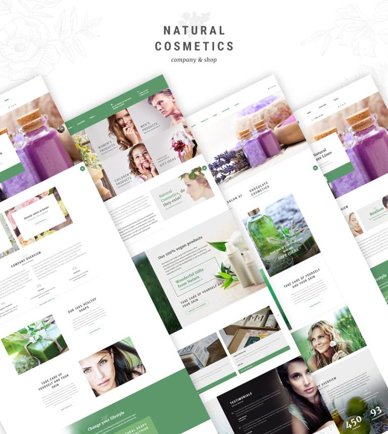 Website Vorlage #62133 für Kosmetik-Geschäft