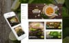 Responsive Website Vorlage für Vegetarisches Restaurant  New Screenshots BIG
