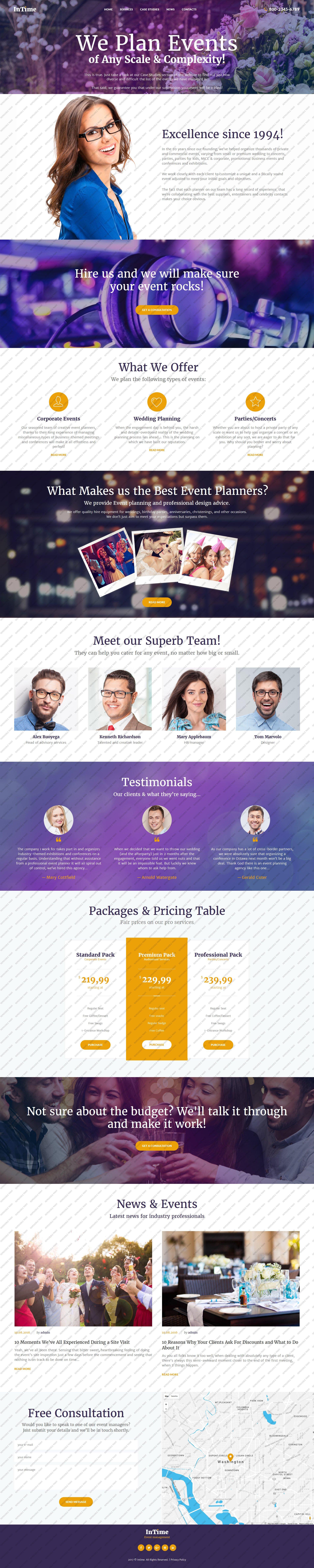 Responsywny motyw WordPress InTime - Events Management Company #62122