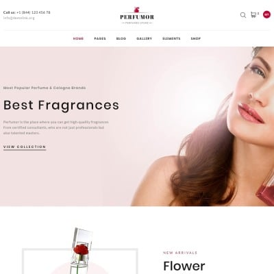 Responsywny szablon strony www Perfumor - Cosmetics Store Multipage Creative HTML #62128 #62128