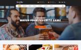 Reszponzív Sportbár és étterem  Weboldal sablon