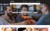 Reszponzív Sportbár és étterem  Weboldal sablon Nagy méretű képernyőkép
