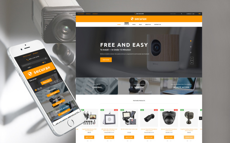 Security Responsive Shopify Theme New Screenshots BIG