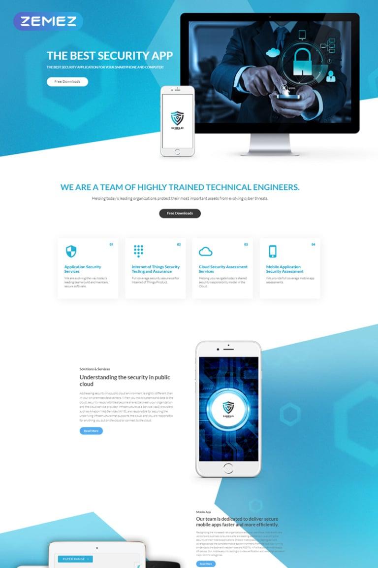 Shield - The Best Security App Joomla Template Big Screenshot