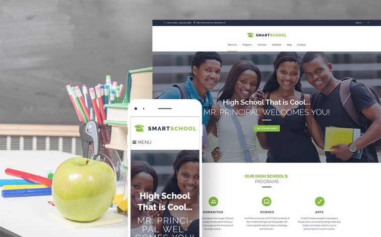 Smart School - High School Education Responsive WordPress Theme New Screenshots BIG
