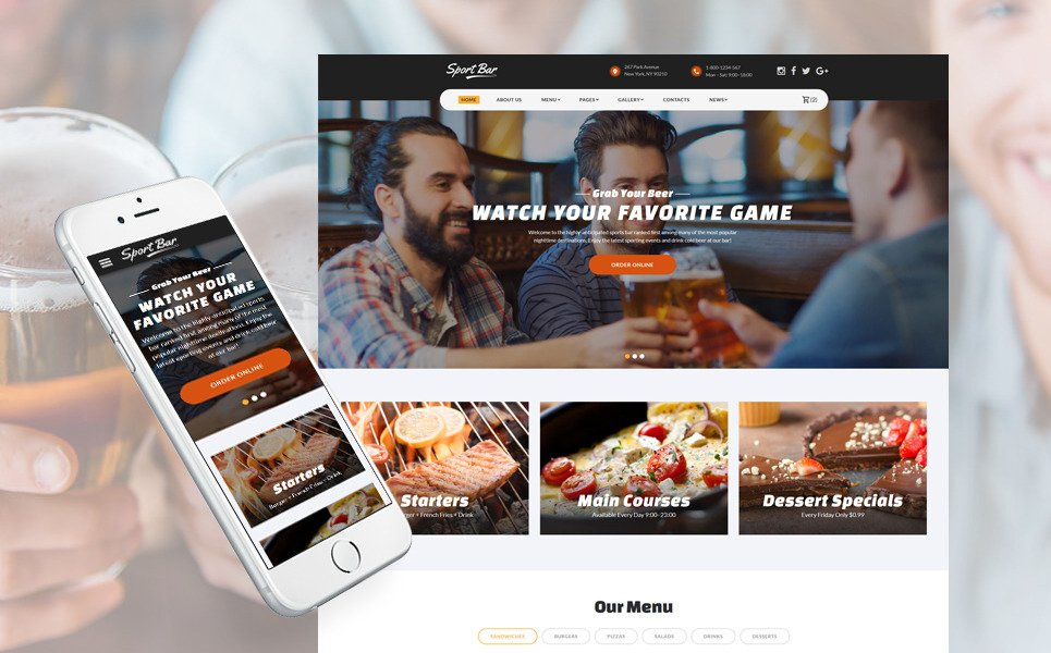 restaurant-multipage-website-template