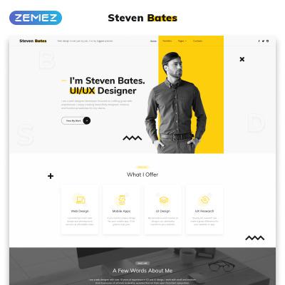 Modèle Web adaptatif  pour site de design web