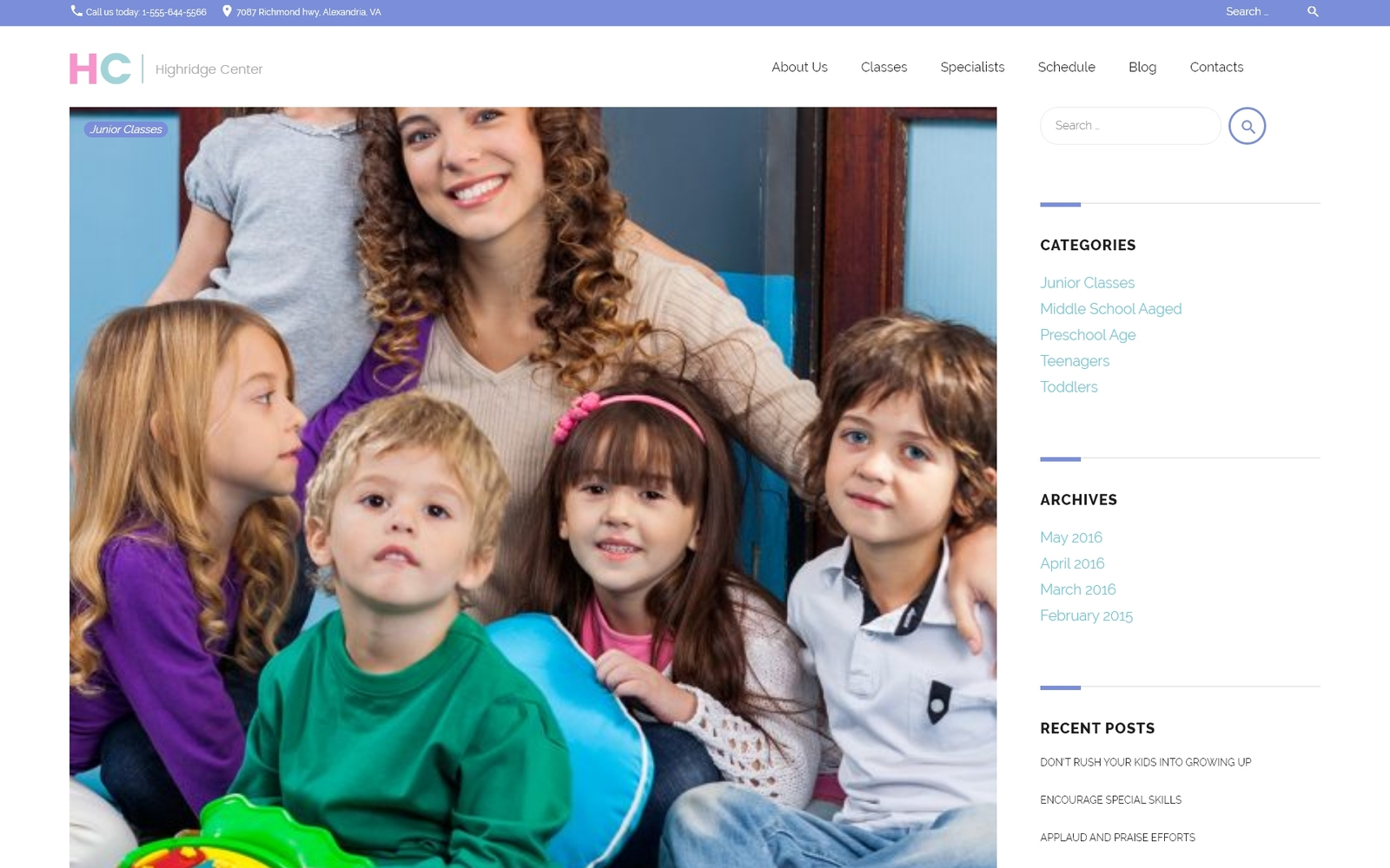 "Tema De WordPress ""Centro Highridge"" #62115"