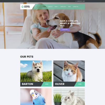 Animal Shelter Responsive Tema Joomla