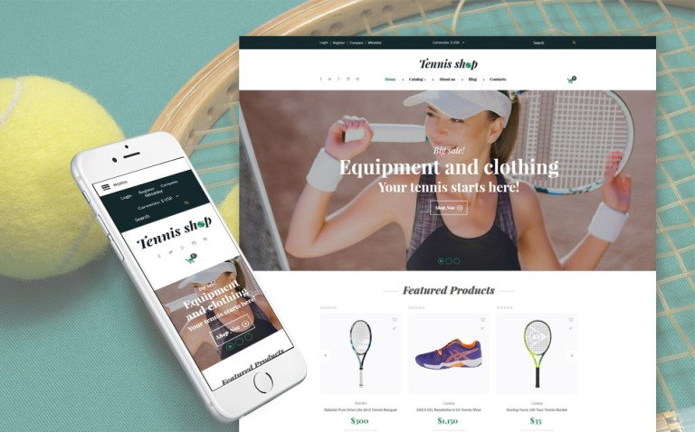 Tennis Shop VirtueMart Template New Screenshots BIG