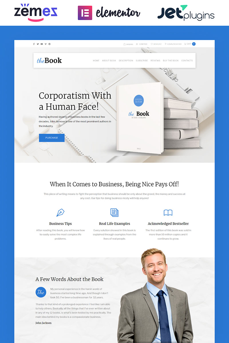 The Book - Single Book WooCommerce Theme WooCommerce Theme