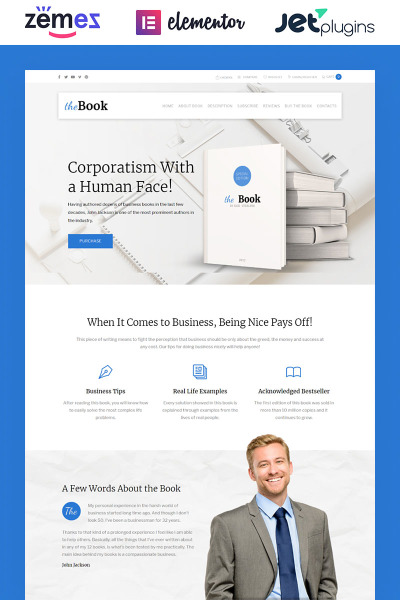 The Book - Single Book WooCommerce Theme #62111