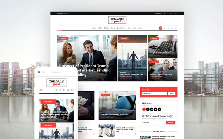 The Daily Post - Media & Latest News WordPress Theme New Screenshots BIG