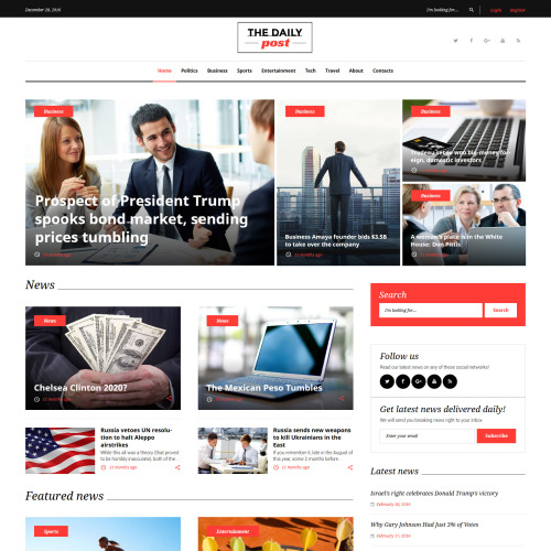 The Daily Post  - Responsive WordPress Template