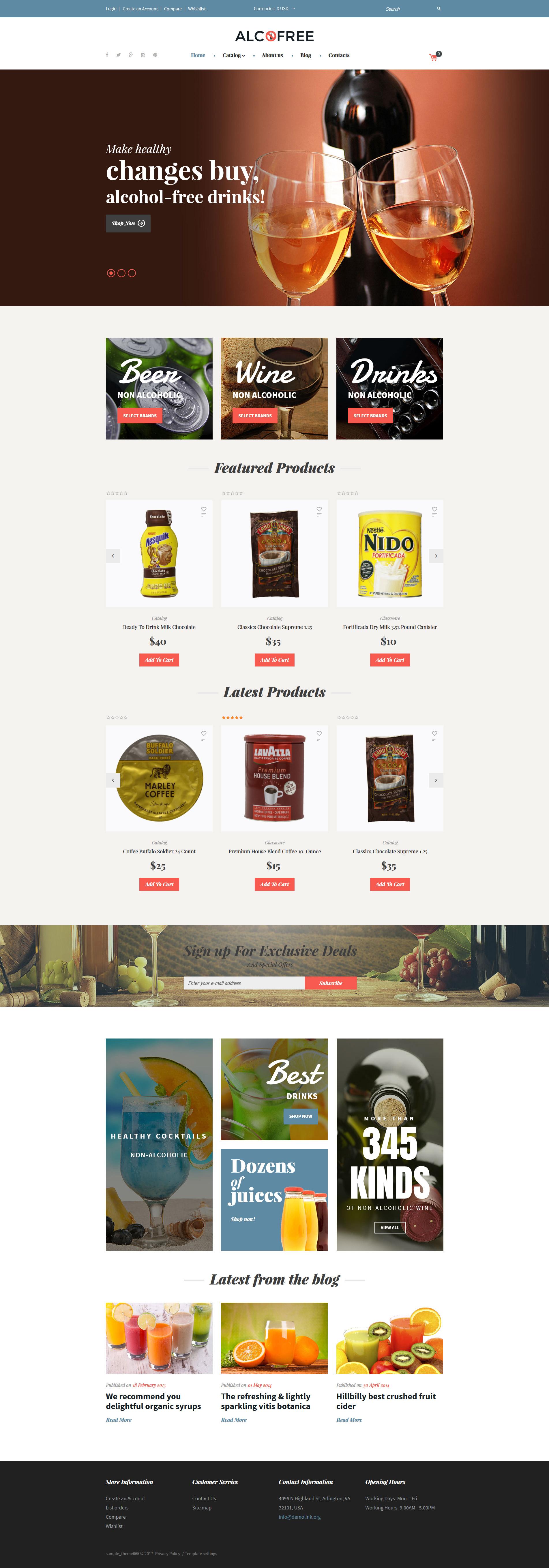 Thème VirtueMart pour site d'alimentation et de boissons #62142