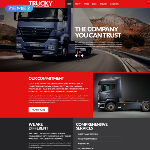 Trucky  - Joomla! Template based on Bootstrap