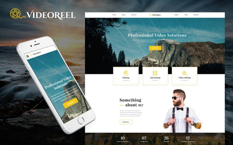 VideoReel - Videographer Multipage Website Template New Screenshots BIG