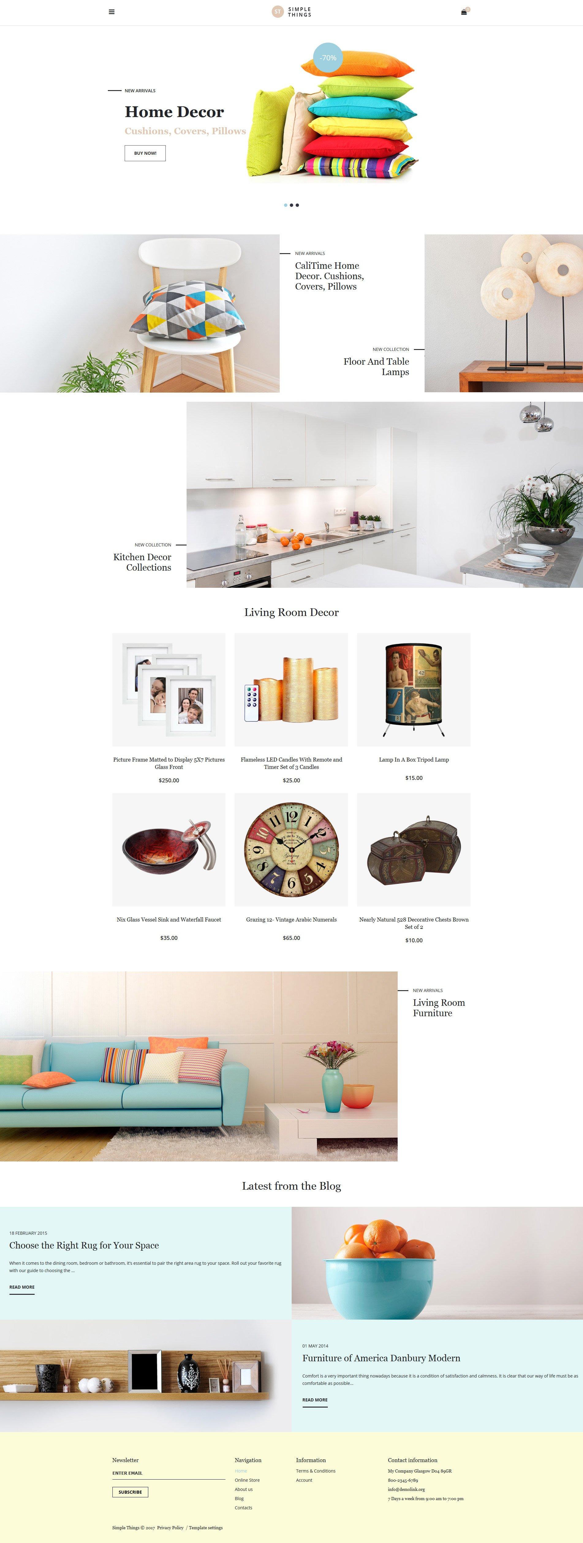 VirtueMart шаблон №62131 на тему домашний декор