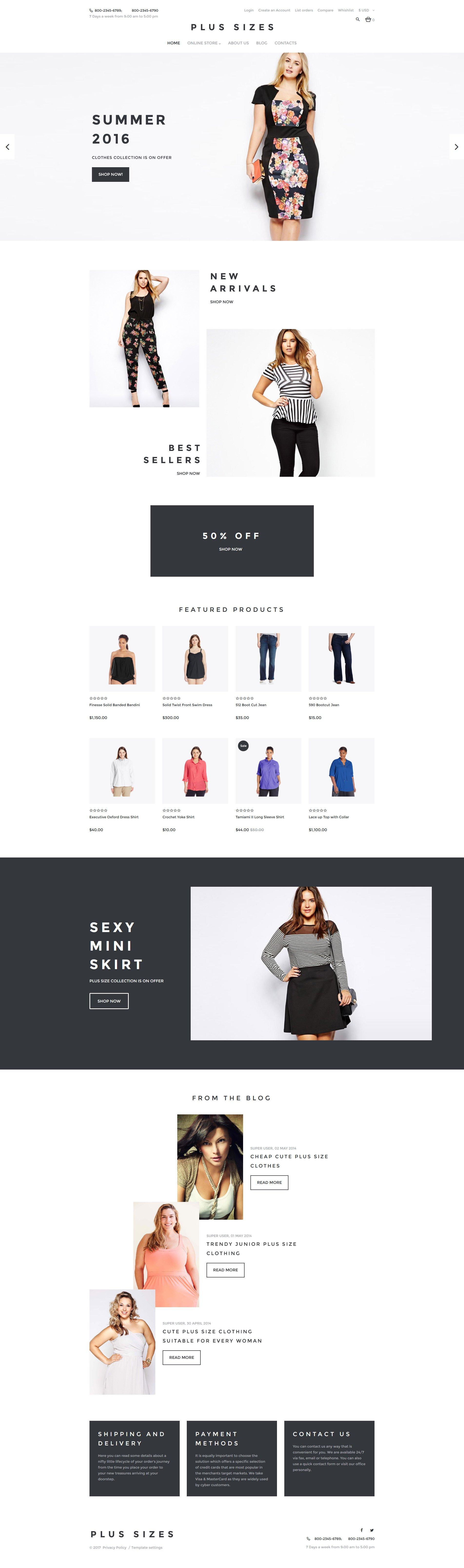 VirtueMart шаблон №62165 на тему модный магазин
