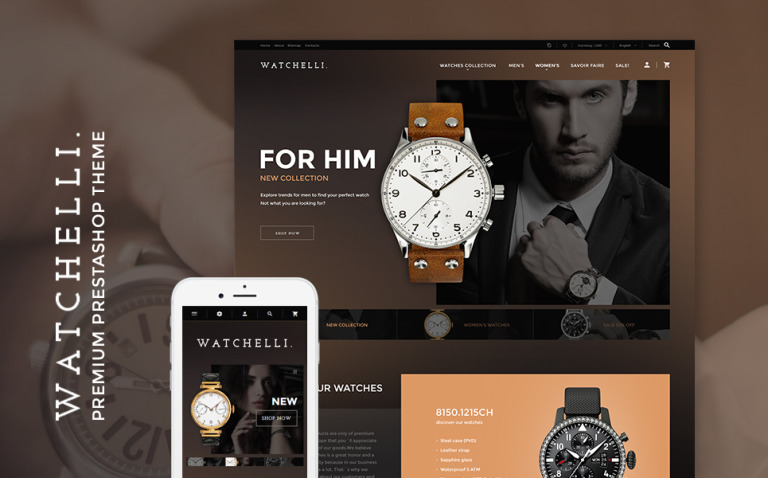 Watchelli - Luxury Watches Store PrestaShop Theme New Screenshots BIG