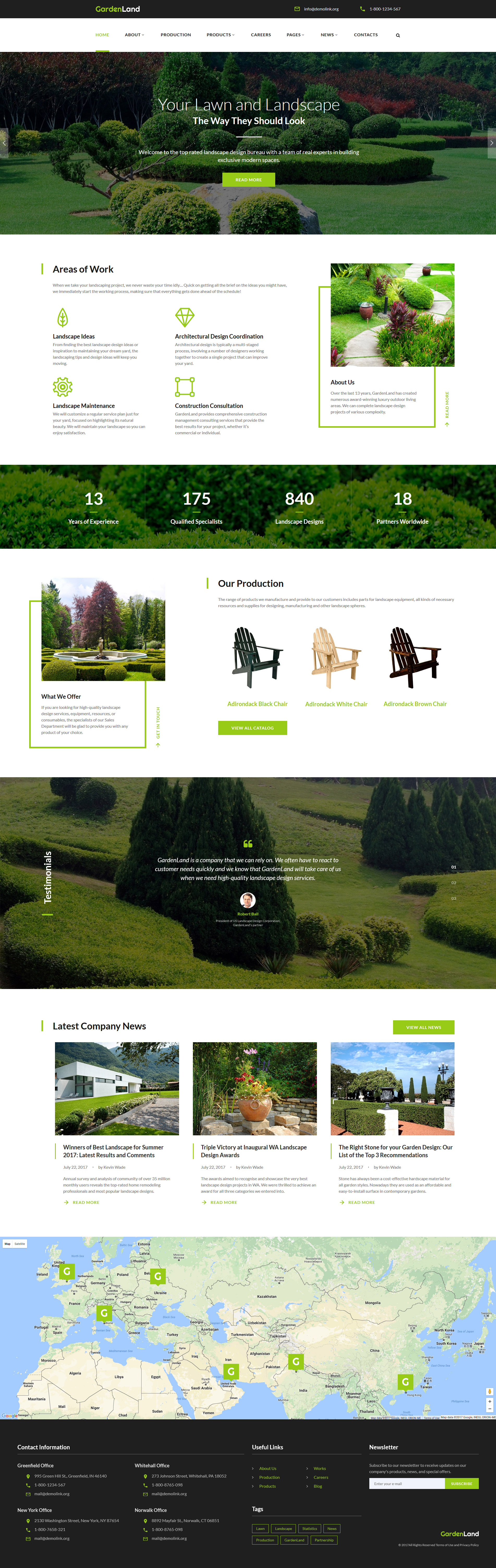 """Website Vorlage namens """"Garden Land - Exterior Design Multipage"""" #62146"""