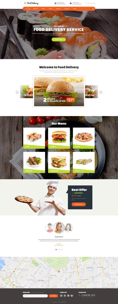 "Website Vorlage namens ""Lebensmittel-Bestellservice"" #62172"