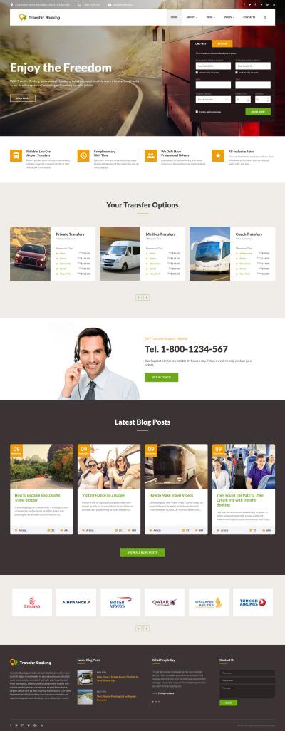 Responsive Website Vorlage für Verkehrswesen